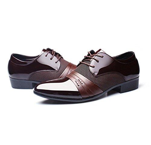 da Scarpe Scarpe da eleganti in uomo uomo Brock Scarpe pelle WSK pizzo 478 in brown extra derby scarpe large vwBdqtc