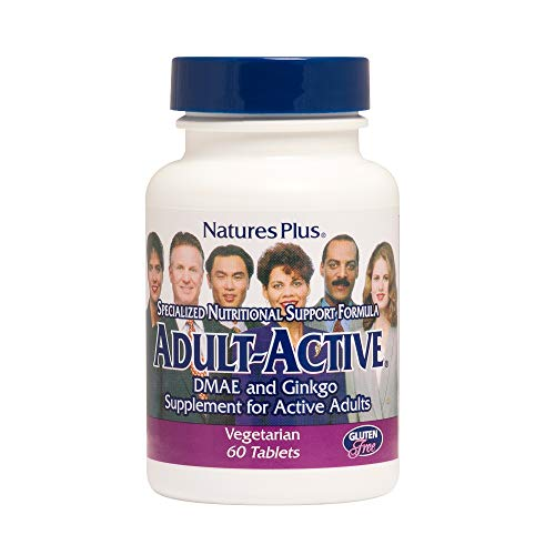 Cheap Natures Plus Adult Active – 200 mg DMAE & 40 mg Ginkgo Biloba, 60 Vegetarian Tablet – Neuronutrient Supplement, Supports Focus, Memory, Learning – Gluten Free – 30 Servings
