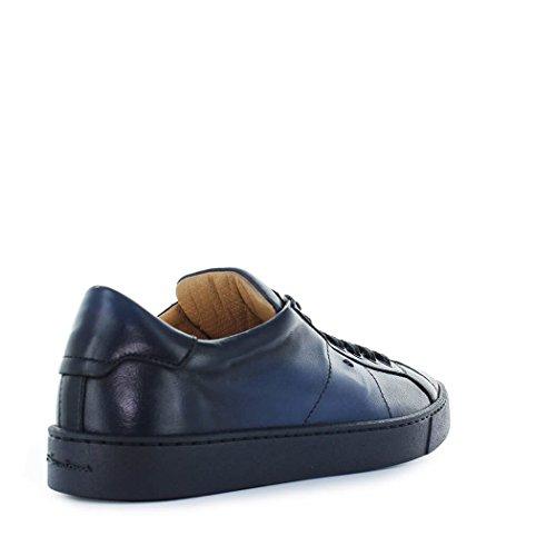 Da 2018 Nappa Scarpe Blu Santoni Primavera Sneaker Uomo Estate 7ASxTqw