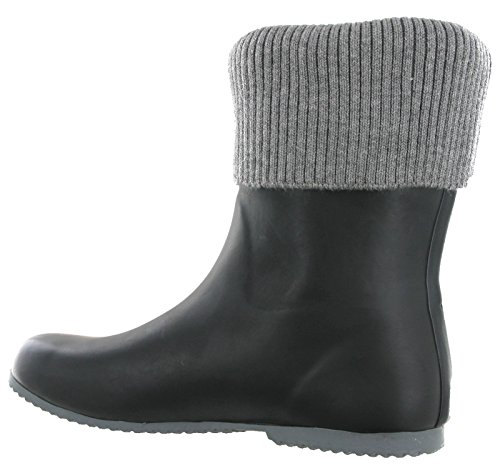 Black Black grey Butterfly lavoro da donna Wellingtons Twist gx7aqB4C