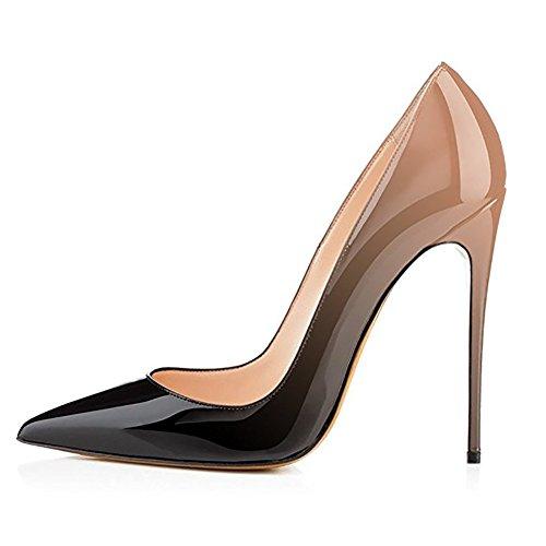 Nackt 12cm Tacón Zapatos de Mujer EKS schwarz wn6Iq771