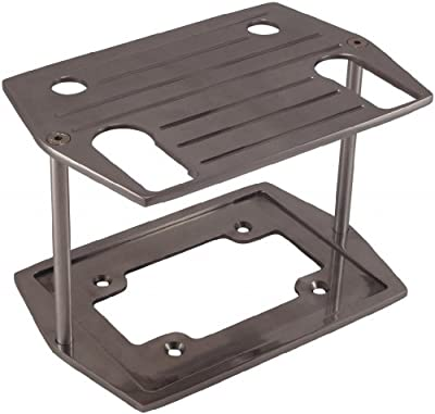 Billet Aluminum Optima Battery Tray (Group 75/35 , 75/25) - Polished Ball Milled