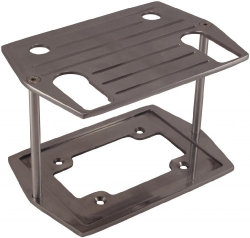 Billet Aluminum Optima Battery Tray (Group 75/35 , 75/25) - Polished Ball Milled Billet Battery Tray