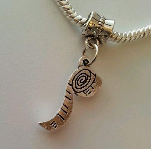 Pendant Jewelry Making Silver Tone Measuring Tape Sewing Seamstress Dangle Bead European Charm Bracelet