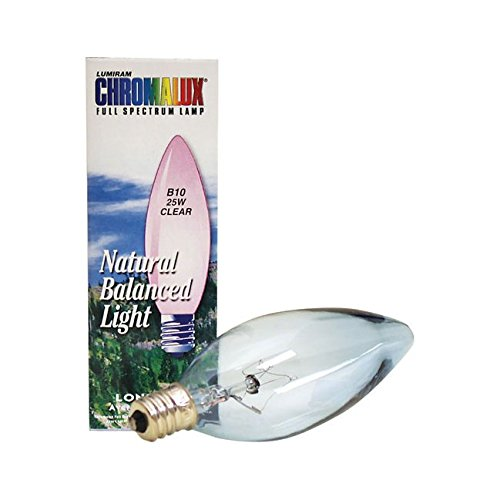 Chromalux Light Bulb, Torp/Cndl, 25Wt