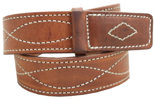 - Men's Mechanics Style Oiled & Waxed Leather Belt 1 1/2