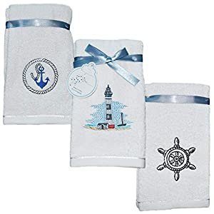 41UxWD9TofL._SS300_ Beach Hand Towels & Nautical Hand Towels