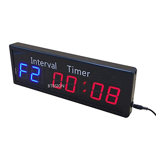 BTBSIGN Gym Interval Timer for Workouts Fitness Count Down/Up Stopwatch 13.5''x4.5'' by BTBSIGN
