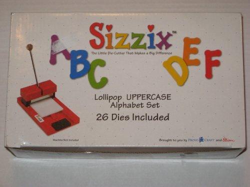 Sizzix Lollipop Uppercase Alphabet Set