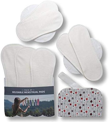 Compresas de tela reutilizables, pack de 7 compresas ecologicas de ...