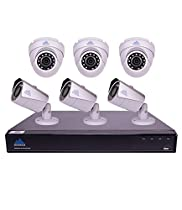 Montavue 8 Channel 4K Home Security Camera System w/ 6 4MP 2K IP Bullet and Dome Cameras, 2TB HDD & 130ft Color Night Optics – MTIP80823B3E
