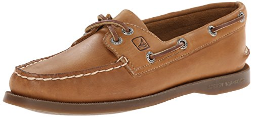 Sperry Womens A/O 2-Eye Boat Shoe, Tan, 8