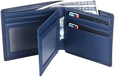 Hoobest RFID Blocking Genuine Leather Wallet for Men -Travel Credit Card Wallets