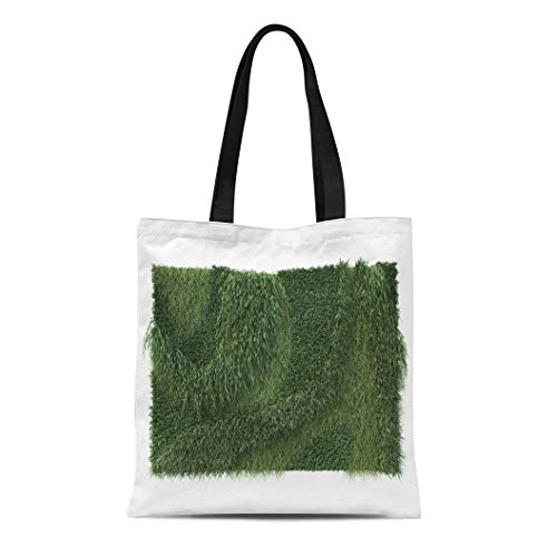 26f8613175cd Semtomn Canvas Tote Bag Shoulder Bags Creep Green Wall 3D Rendering of  Garden Climber Foliage Women's Handle Shoulder Tote Shopper Handbag