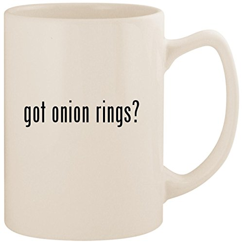 got onion rings? - White 14oz Ceramic Statesman Coffee Mug Cup