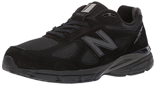 New Balance Men's 990V4 Running Shoe, Black/Black, 12.5 D US