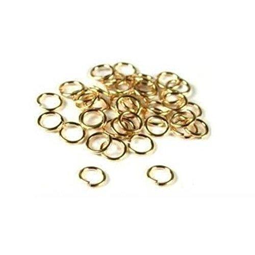 - 40 14K Gold Filled Jump Rings Open Jewelry 22 Gauge 5mm