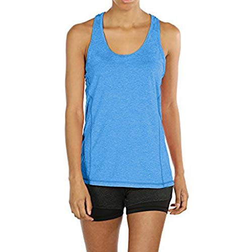 (Women Activewear Yoga Tops Running Workouts Yoga Sport Racerback Blouse Sleeveless Shirt Tunic Vest Tank)