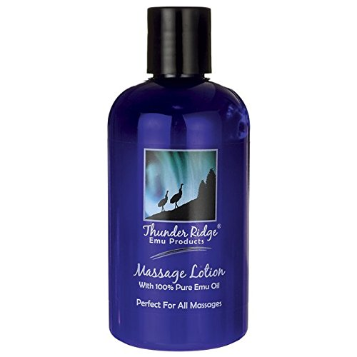 Thunder Ridge Emu Products Massage Lotion with 100% Pure Emu Oil 8 fl oz (8 Ounce Emu Lotion)