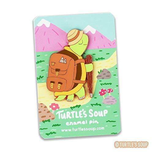 Hiking Tortoise Enamel Pin