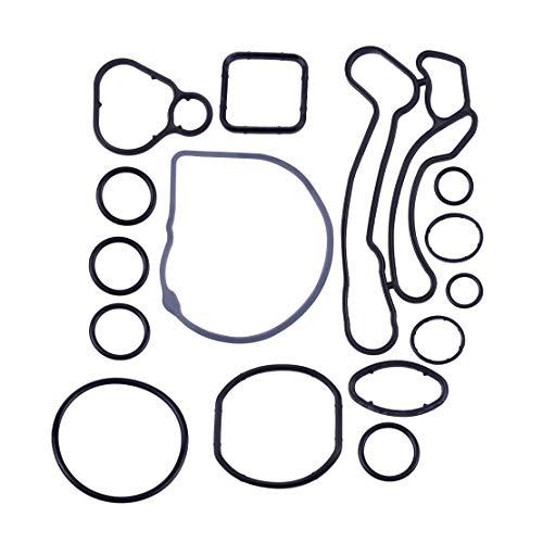 amazon beler engine oil cooler gasket seal full suit fit for Black 2008 Saturn Astra amazon beler engine oil cooler gasket seal full suit fit for chevrolet pontiac oem 55571687 automotive