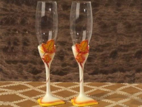 Autumn Themed Toasting glasses set