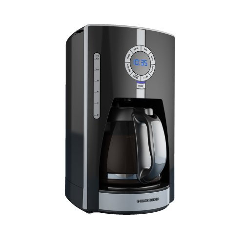 Best price for Black & Decker CM1650B 975-Watt 12-Cup Programmable Coffeemaker with Brew Strength Selector