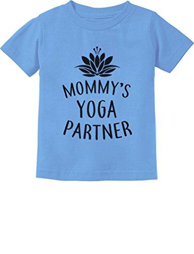 Tstars Mommy's Yoga Partner Mom & Baby Funny Yoga Lovers Infant Kids T-Shirt 24M California Blue