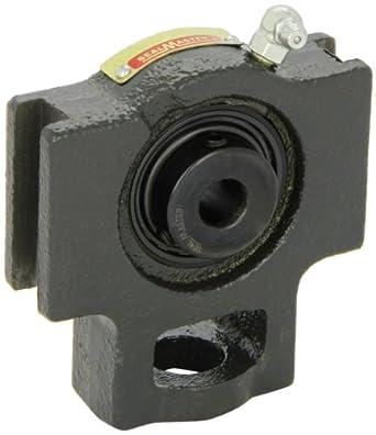 "Sealmaster ST-8 Take-Up Unit, Standard Duty, Regreasable, Setscrew Locking Collar, Felt Seals, Cast Iron Housing, 1/2"" Bore, 17/32"" Slot Width, 3"" Between Frames"