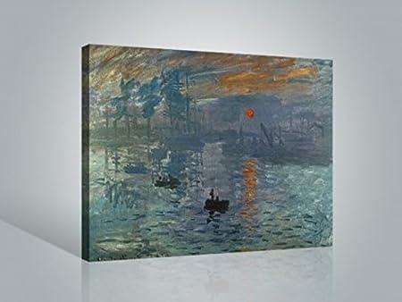 Reproduction pr/ête /à accrocher Image sur Toile v/éritable pr/ête /à accrocher Posterlounge Tableau sur Toile 60 x 40 cm: The Magpie de Claude Monet Toile sur ch/âssis Reproduction sur Toile