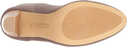 Charles Di Charles David Womens Shirley Fashion Boot Dark Taupe Elasticizzato A Spina Di Pesce