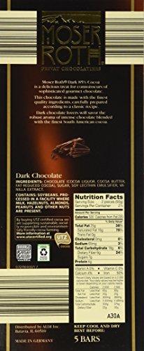 Moser Roth Fine German European Dark Chocolate 70 85 Cocoa 6 Pack 85 Dark Chocolate