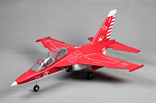FMS 70mm Ducted Fan EDF Yak-130 Red Super Scale PNP RC Airplane Jet 6S