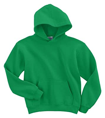 50/50 Youth Hooded Sweatshirt, Color: Irish Green, Size: X-Large