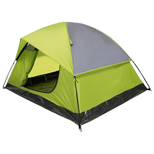 YUEBO Camping Tent Lightweight Waterproof Backpacking Tent Weatherproof 2 Person Double Layer Rain Fly with Carry Bag (Green)
