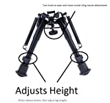 X-Aegis-2-in-1-Rifle-Bipod-6-to-9-Spring-Return-Sniper-Hunting-Rifle-Bipod-Sling-Swivel-Mount-Adjustable-Height-Rail-Mount-Adapter-Include