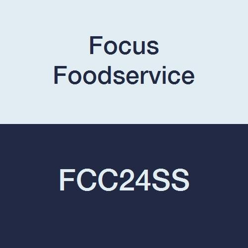 Focus Foodservice FCC24SS Caster Channels for Rigid Casters; Fits 24'' Shelves, Stainless Steel