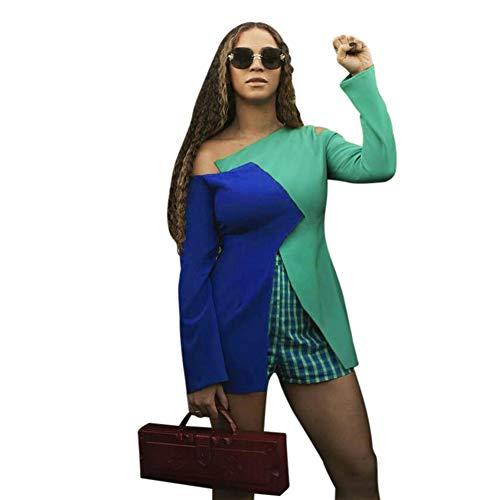 Pezzi Zcg Maniche Split Abbigliamento Donna Senza Sexy Nightclub Blue Lunghe A Due Spalline Biancheria Cuciture Intima Reticolo fBRfZqp