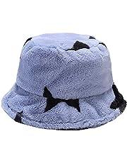XYIYI Furry Bucket Hat Fluffy Winter Warmer Fisherman Cap for Women