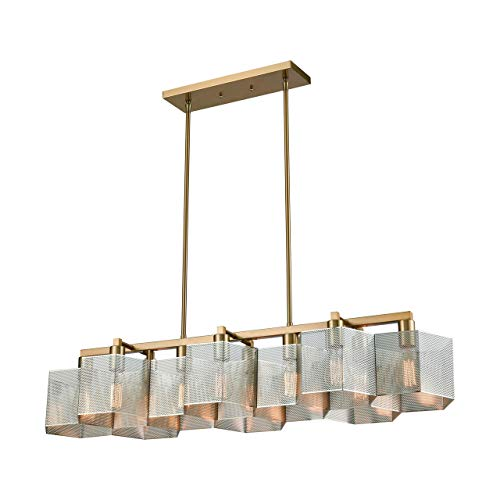 Elk Lighting 21114/10 Island Light Polished Nickel, Satin Brass