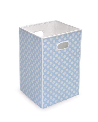 Badger Basket Folding Hamper/Storage Bin, Blue (Basket Badger Fabric)