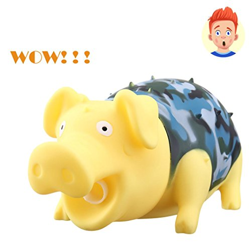 Vovomay Squeaky Rubber Pig Toy Cute Shrilling Pig Relax Toy Squeeze Realistic Toy