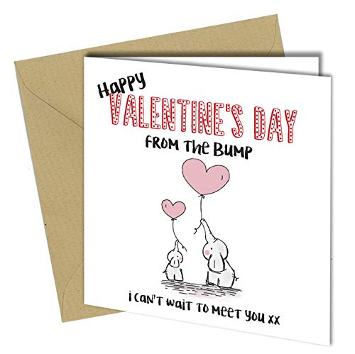 #867 Valentines Day Card Mum Dad Daddy Mummy To Be From The Baby Bump First Card (150 x 150mm Folded) Fast Delivery By: Close to the Bone