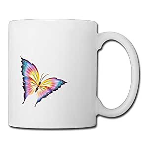 Happy Shopping Colorful Butterfly Beautiful Ceramic Coffee Mug Cup Suitable For Men Women