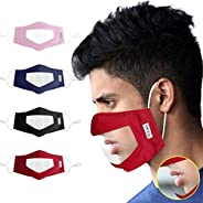 Filters Reusable Anti Dust Unisex Mouth Face Filter, with Clear Window Visible Expression for The Deaf and Har