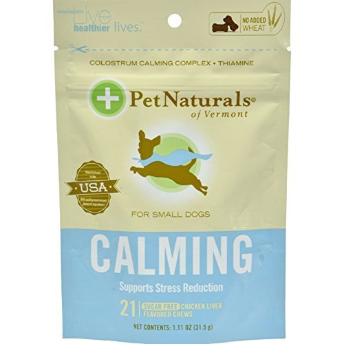 Calming Formula for Dogs, Small 21 Soft Chew Tablets by Pet Naturals of Vermont / 21 Count ( Multi-Pack)