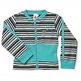 Fig Organic Striped Jacket in Green Stripes (2Y)