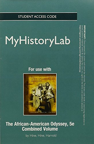 NEW MyHistoryLab -- Standalone Access Card -- for The African-American Odyssey (5th Edition)