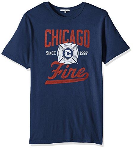 Junk Food MLS Chicago Fire Men's Short Sleeve Crew Neck Tee, Large, TRNY
