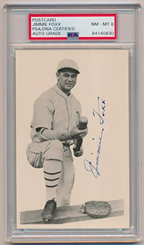 Jimmie Foxx Signed Real Photo Postcard. PSA 8 NM-MT. from Brigandi Coins and Collectibles